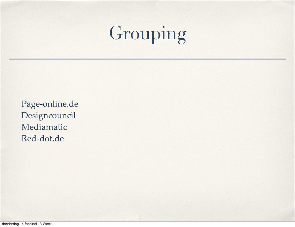 Grouping Page-online.de Designcouncil Mediamati...