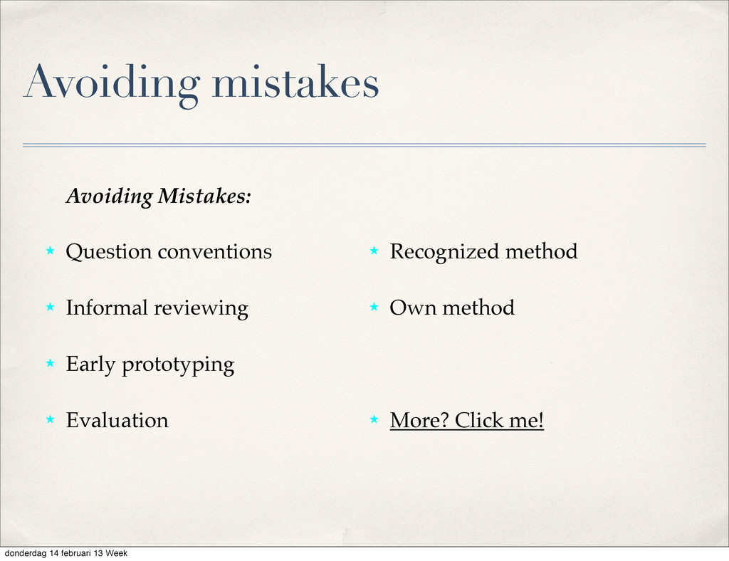 Avoiding Mistakes: ˒ Question conventions ˒ Inf...