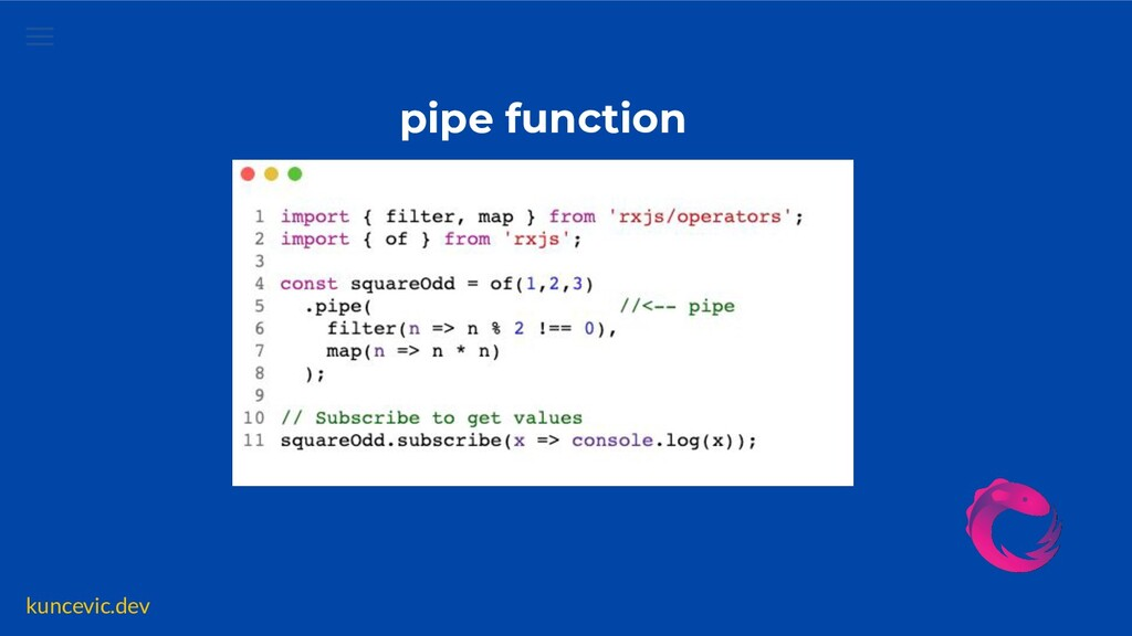 kuncevic.dev pipe function