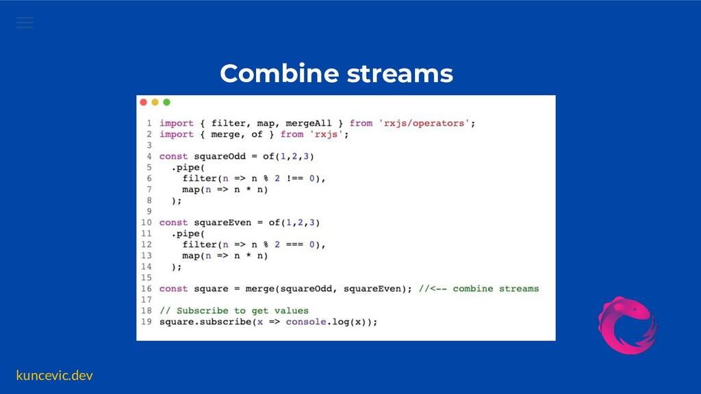 kuncevic.dev Combine streams