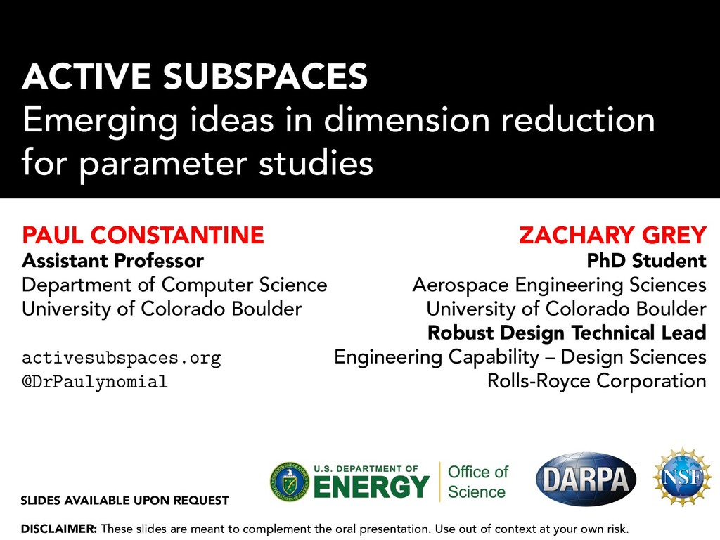 ACTIVE SUBSPACES Emerging ideas in dimension re...