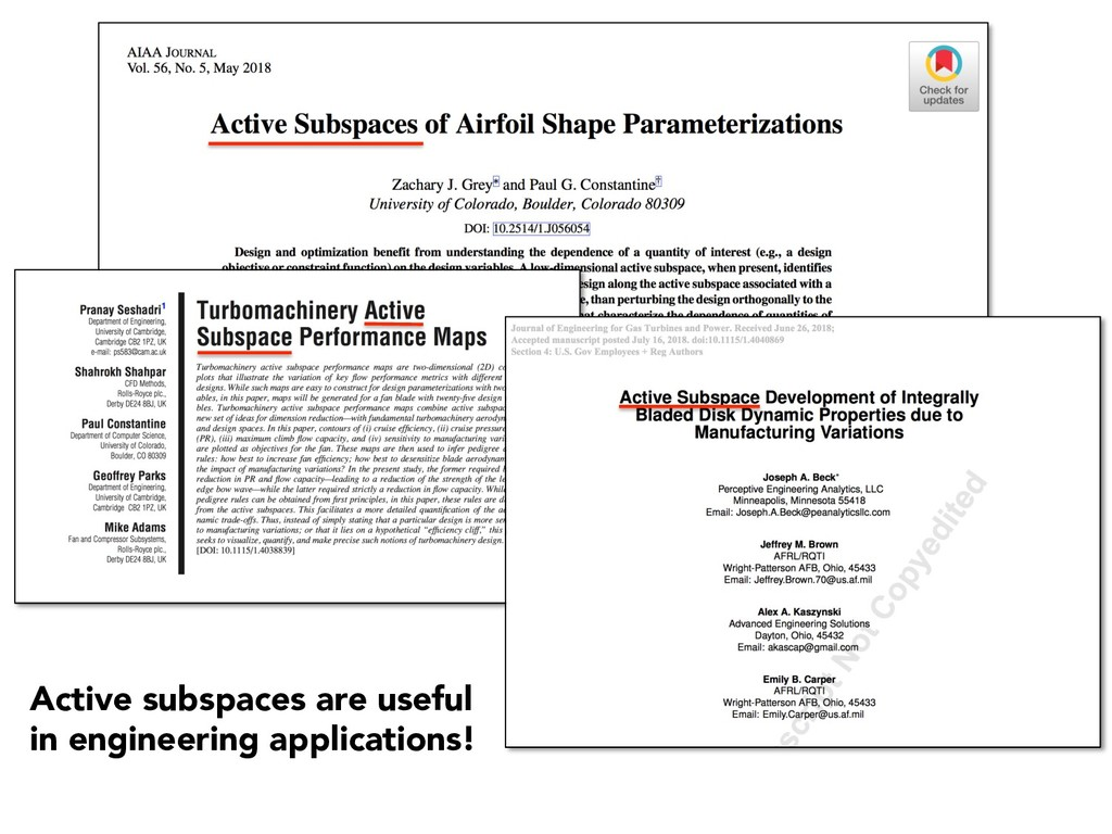 Active subspaces are useful in engineering appl...