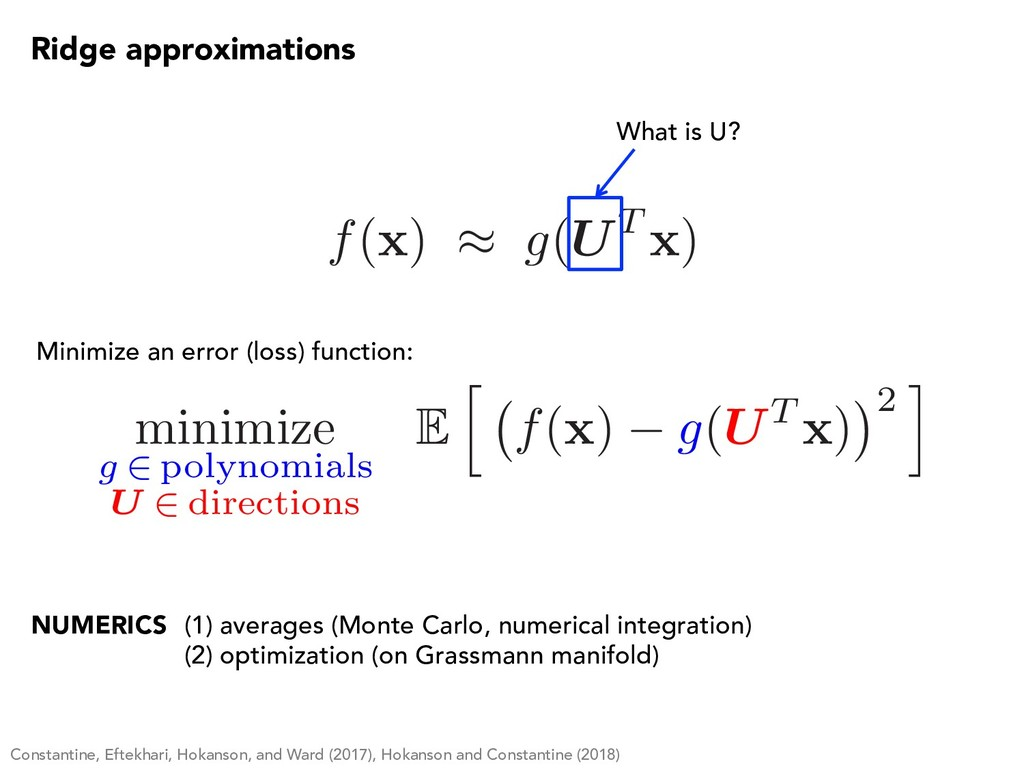 minimize g 2 polynomials U 2 directions E h f( ...