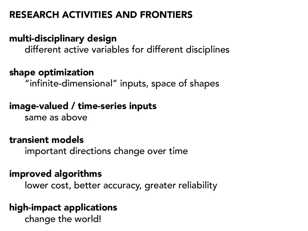 RESEARCH ACTIVITIES AND FRONTIERS multi-discipl...