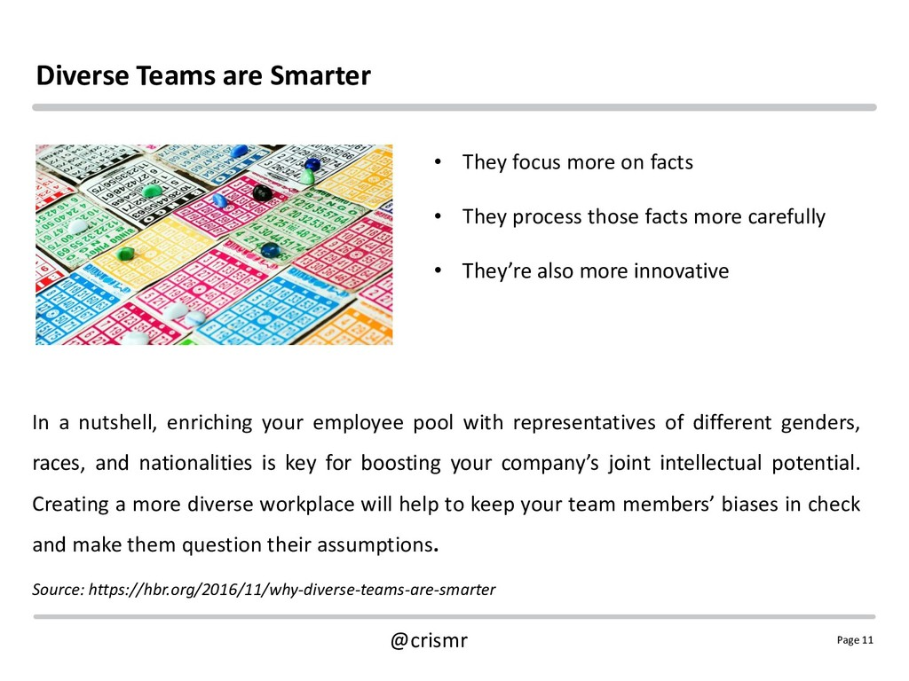 Page 11 @crismr Diverse Teams are Smarter In a ...