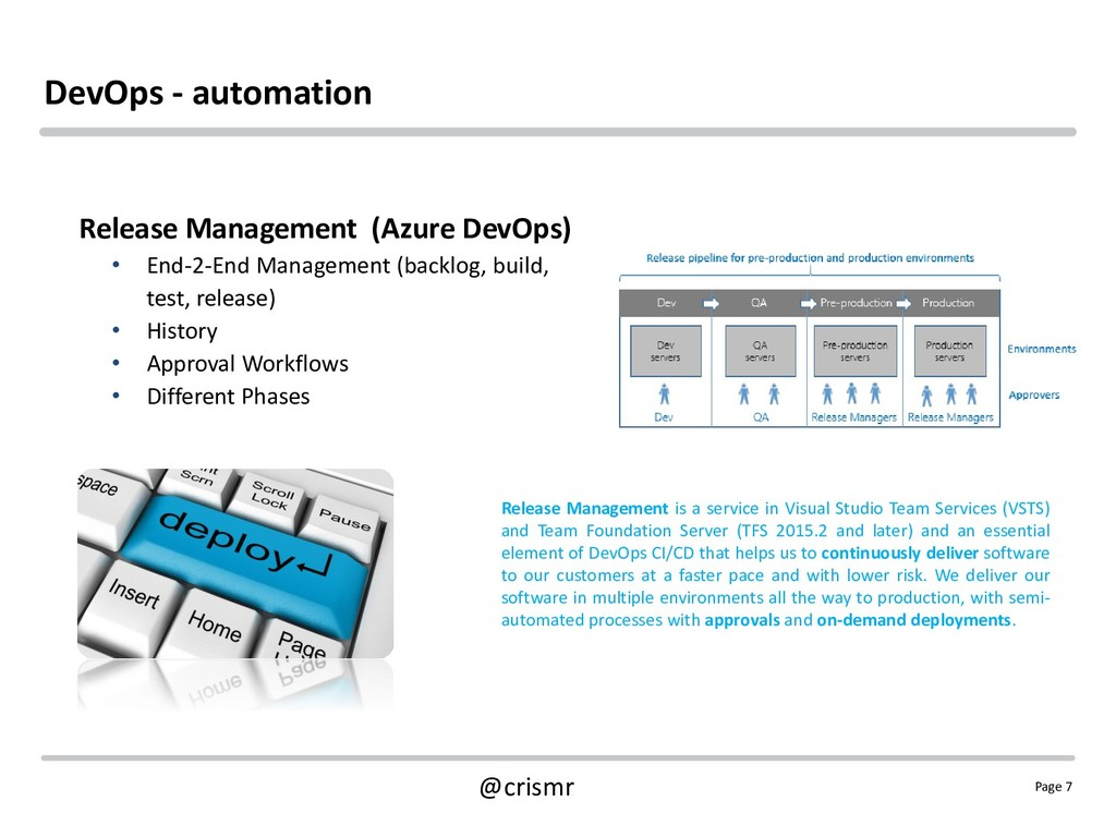 Page 7 @crismr DevOps - automation Release Mana...