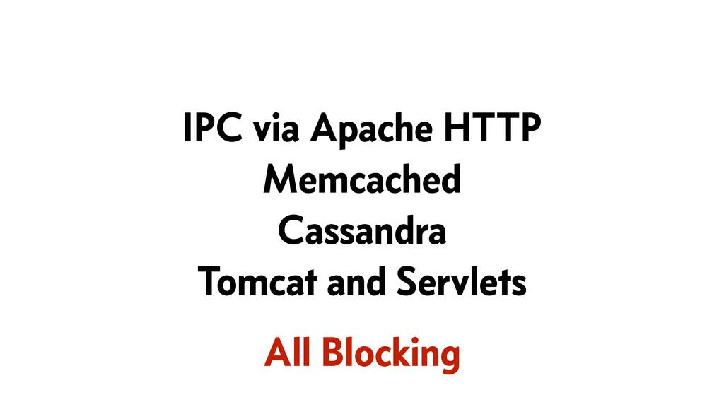 IPC via Apache HTTP Memcached Cassandra Tomcat ...