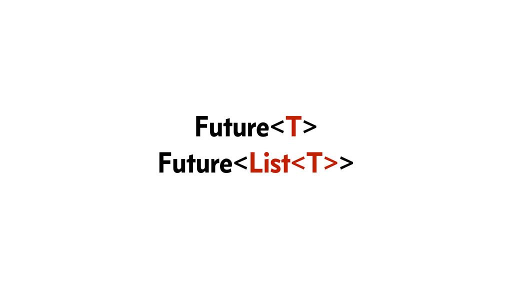 Future<T> Future<List<T>>