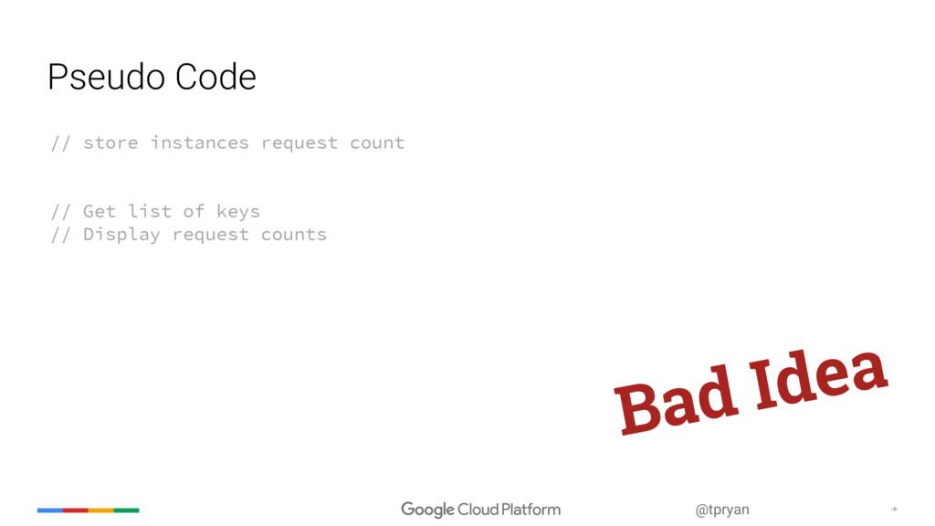‹#› @tpryan Pseudo Code // store instances requ...