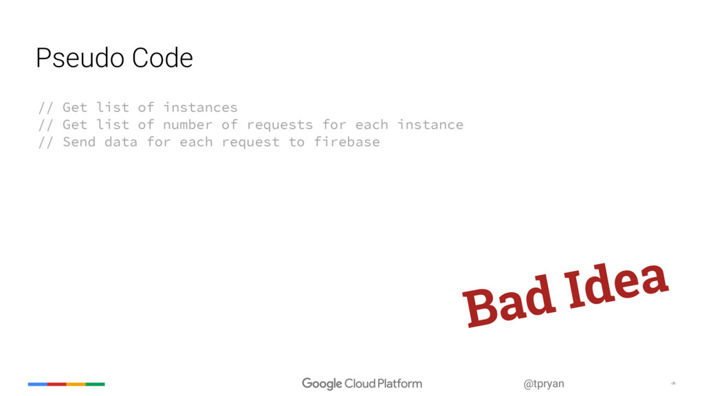 ‹#› @tpryan Pseudo Code // Get list of instance...