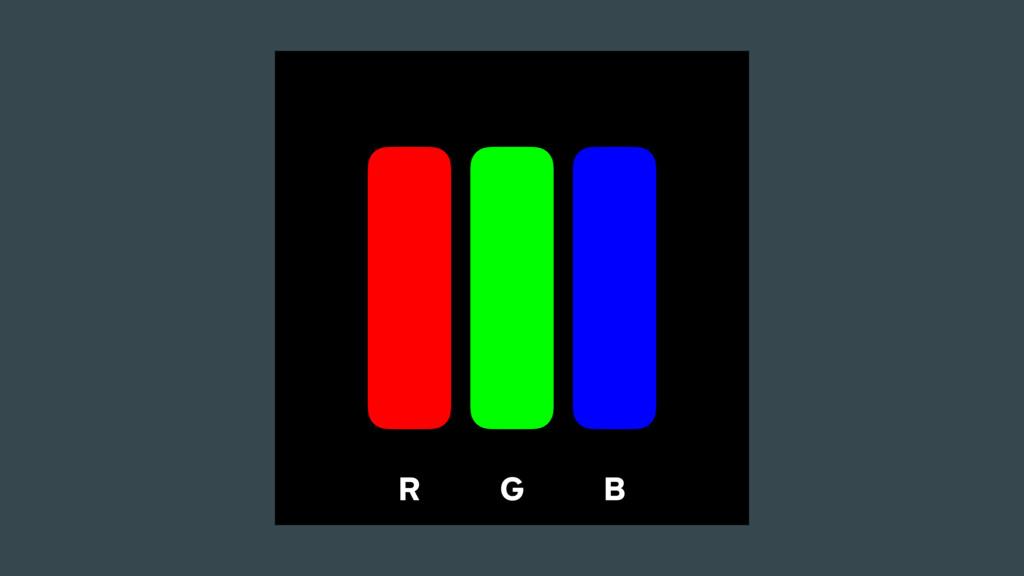 R G B
