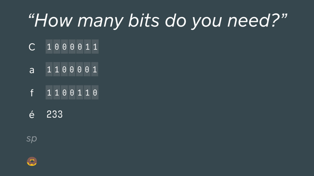 "233 1 0 0 0 0 1 1 C ""How many bits do you need?..."