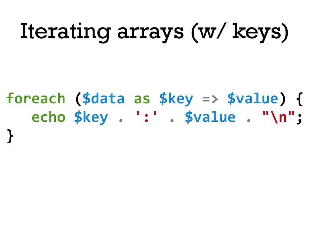 foreach ($data as $key => $value...