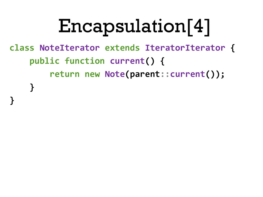Encapsulation[4] class NoteIterator exte...
