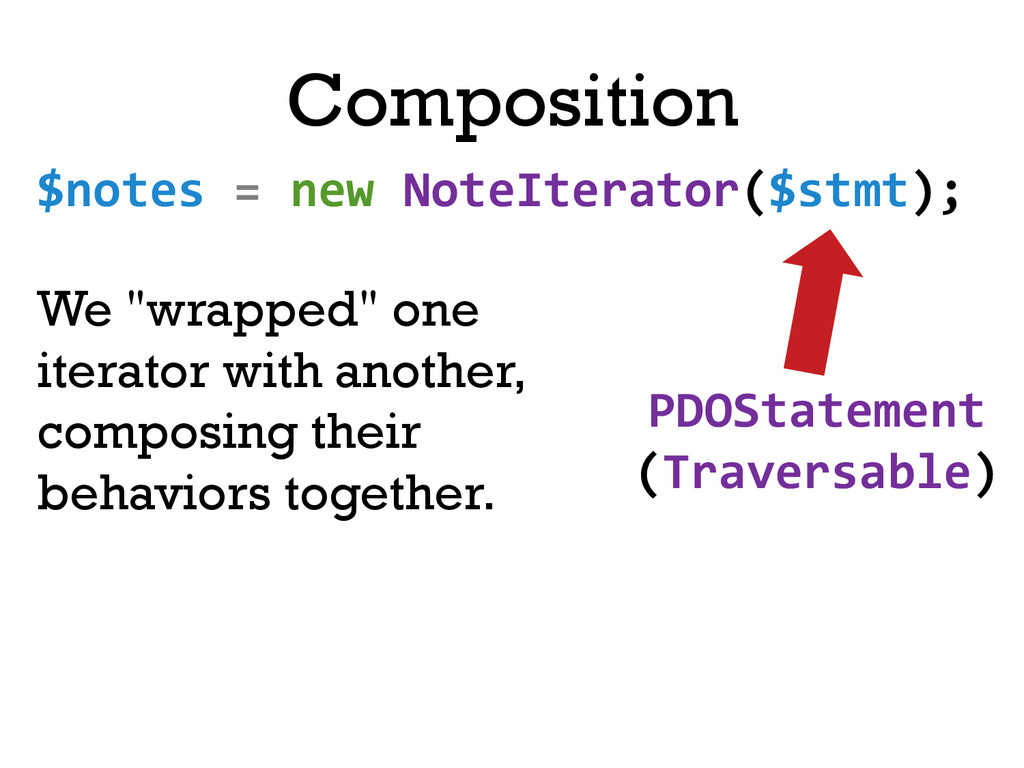 Composition $notes = new NoteIterator(...
