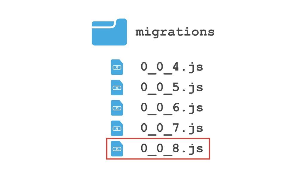 migrations 0_0_4.js 0_0_5.js 0_0_6.js 0_0_7.js ...