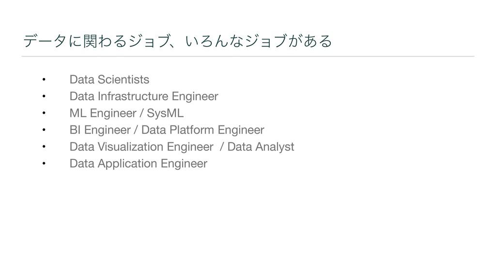 σʔλʹؔΘΔδϣϒɺ͍ΖΜͳδϣϒ͕͋Δ • Data Scientists  • Data...