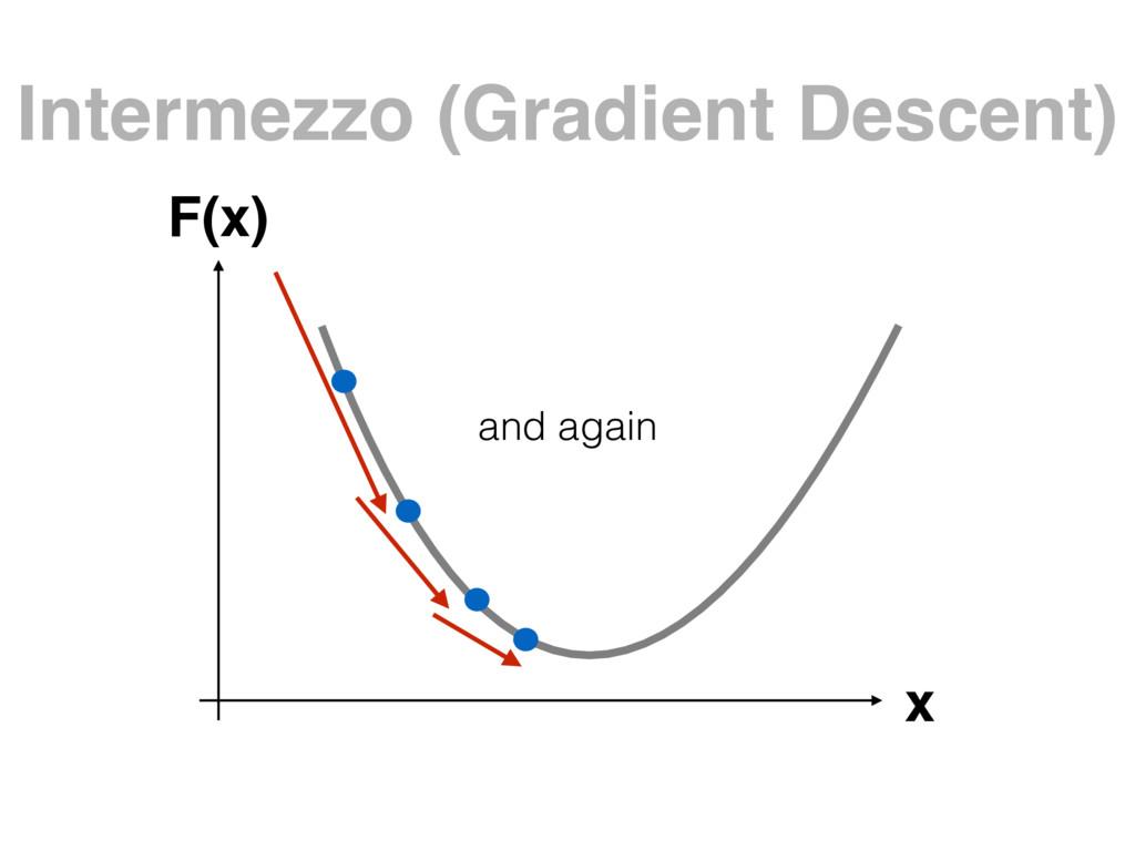 Intermezzo (Gradient Descent) x F(x) and again