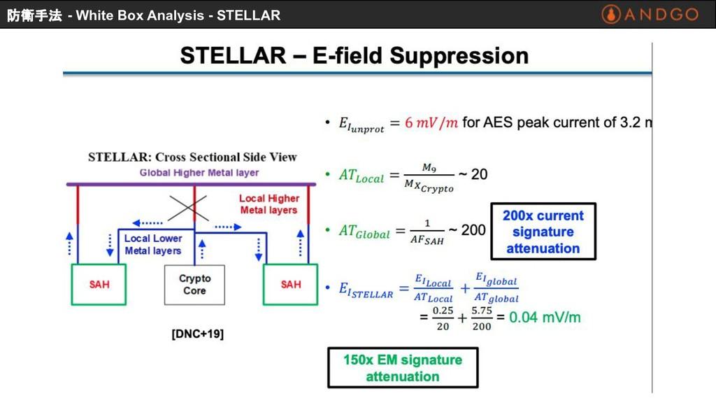 防衛手法 - White Box Analysis - STELLAR