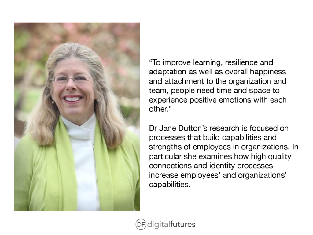 """""""To improve learning, resilience and adaptation..."""