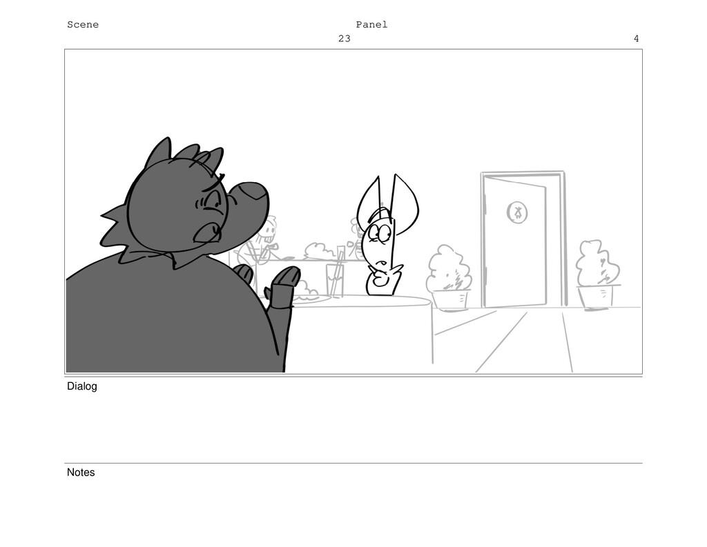 Scene 23 Panel 4 Dialog Notes