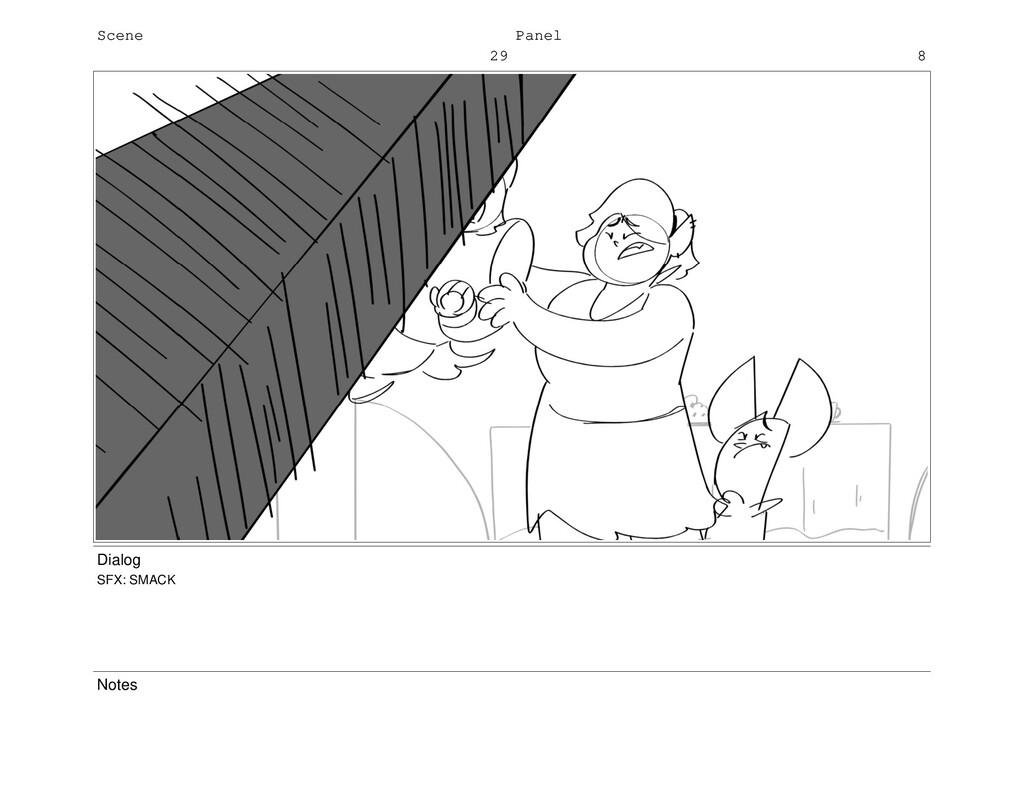 Scene 29 Panel 8 Dialog SFX: SMACK Notes