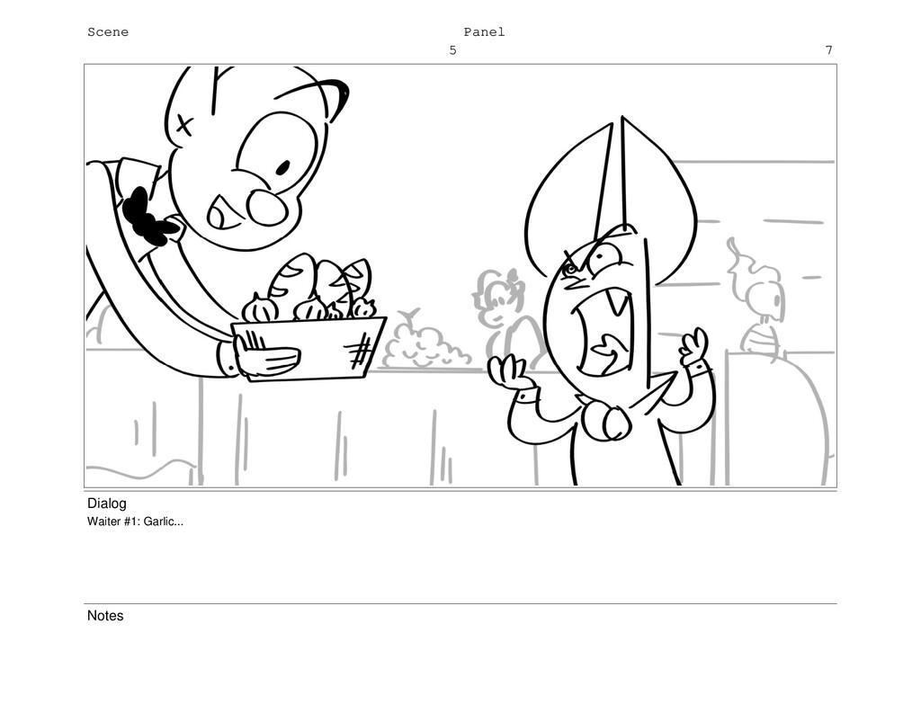 Scene 5 Panel 7 Dialog Waiter #1: Garlic... Not...