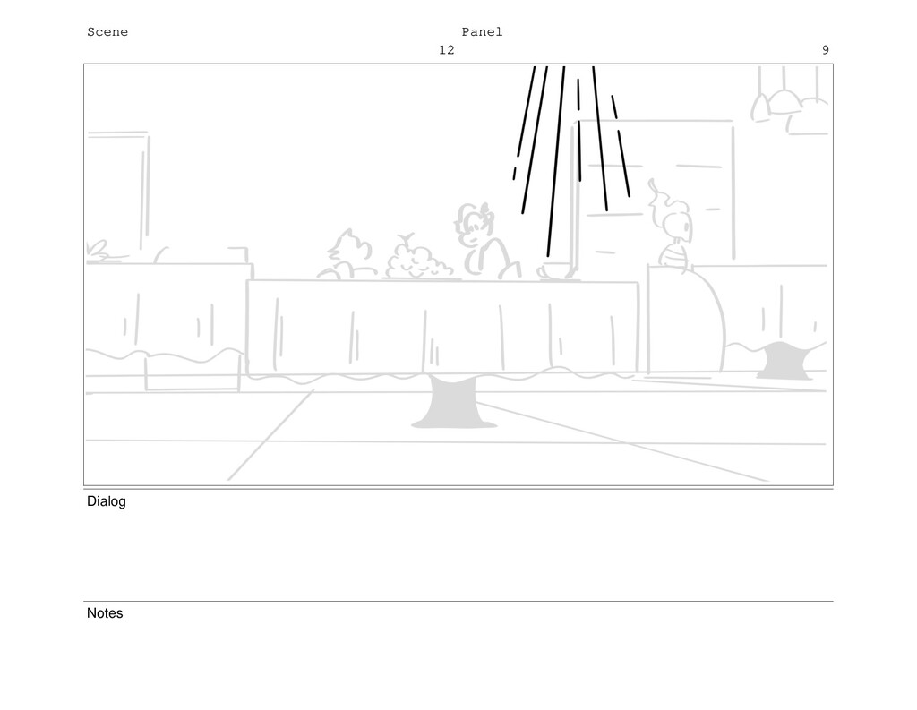 Scene 12 Panel 9 Dialog Notes