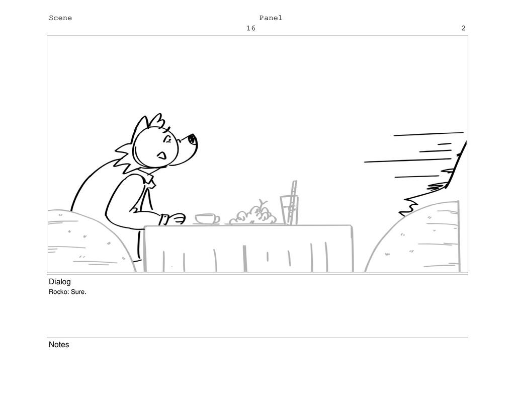 Scene 16 Panel 2 Dialog Rocko: Sure. Notes