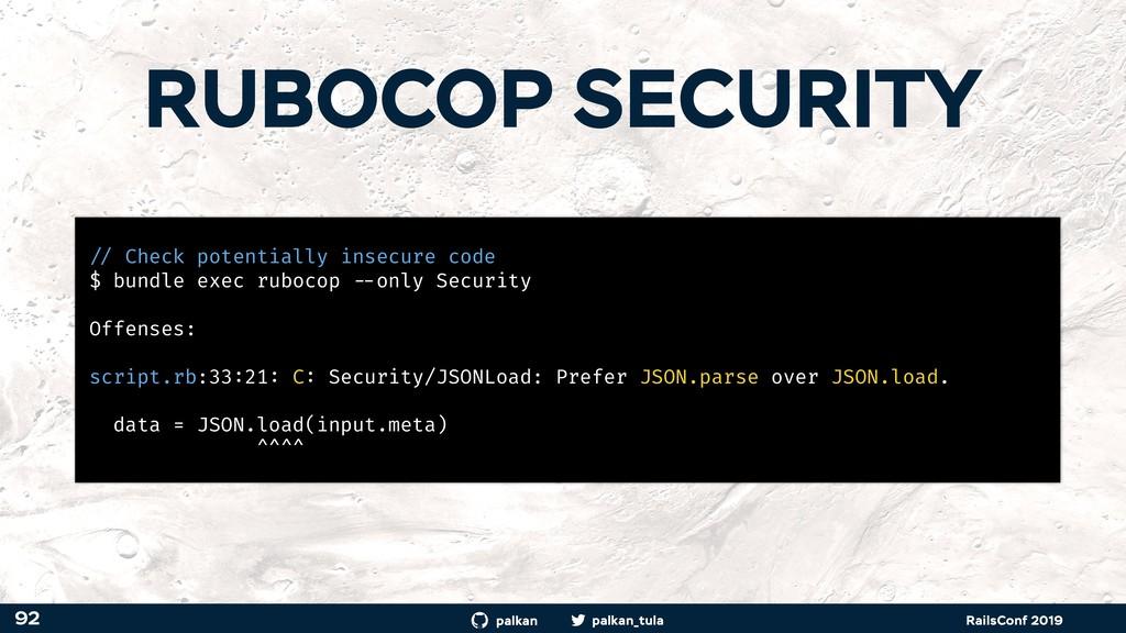 palkan_tula palkan RailsConf 2019 RUBOCOP SECUR...