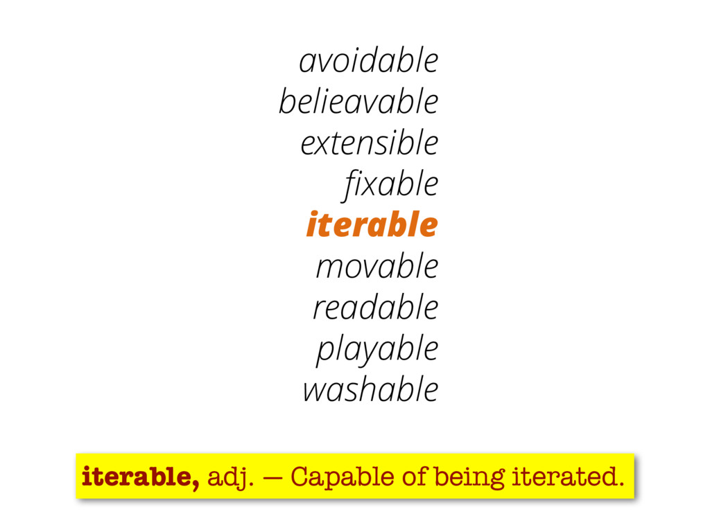 15 avoidable belieavable extensible fixable iter...