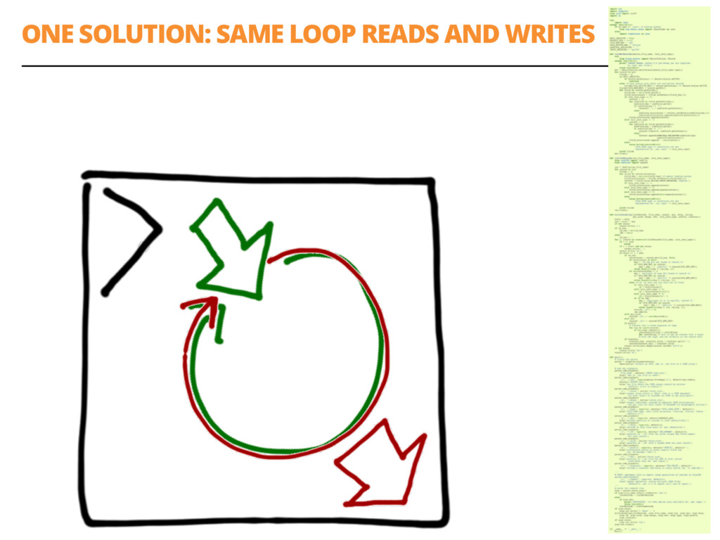 ONE SOLUTION: SAME LOOP READS AND WRITES 55