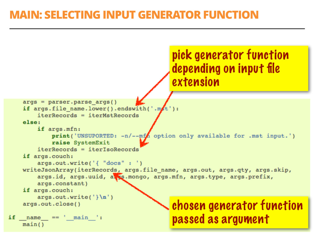 MAIN: SELECTING INPUT GENERATOR FUNCTION 59 cho...