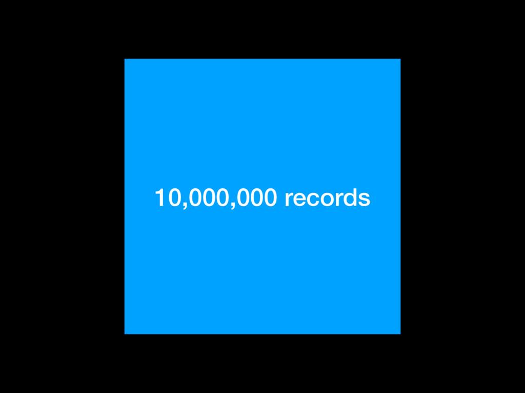 10,000,000 records