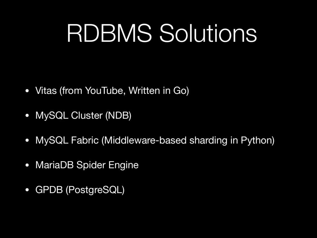 RDBMS Solutions • Vitas (from YouTube, Written ...