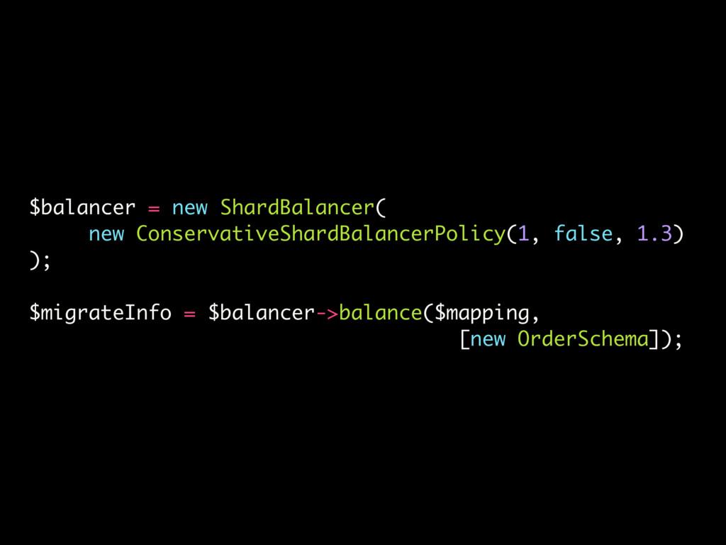 $balancer = new ShardBalancer( new Conservative...