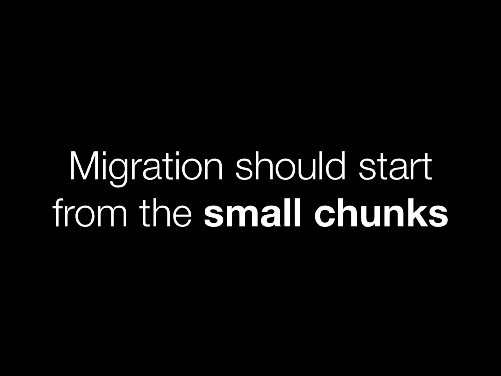 Migration should start from the small chunks