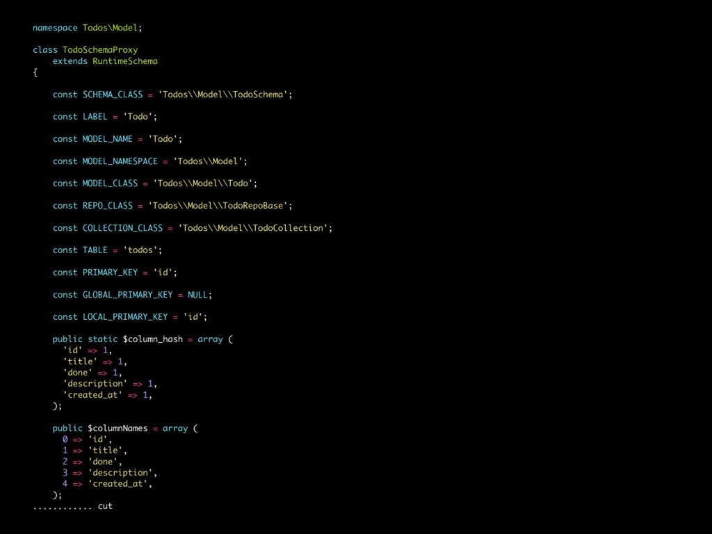 namespace Todos\Model; class TodoSchemaProxy ex...