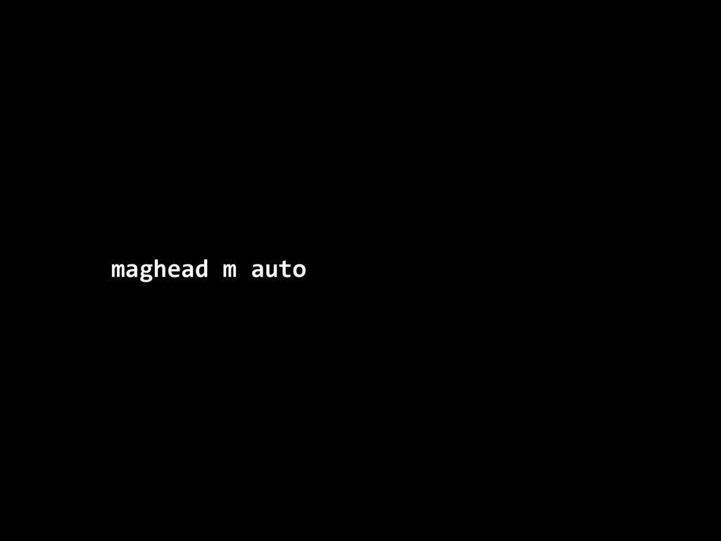 maghead m auto