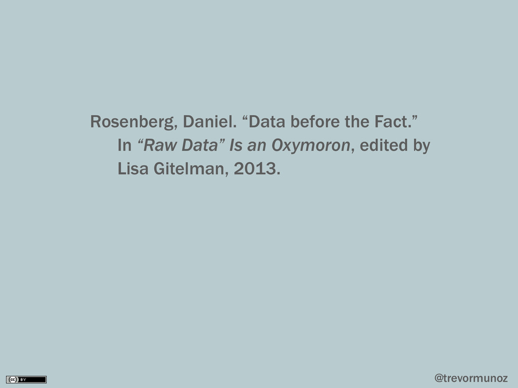 "@trevormunoz Rosenberg, Daniel. ""Data before th..."