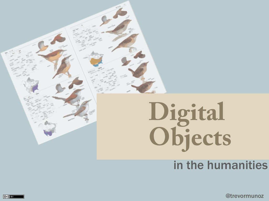 @trevormunoz Digital Objects in the humanities
