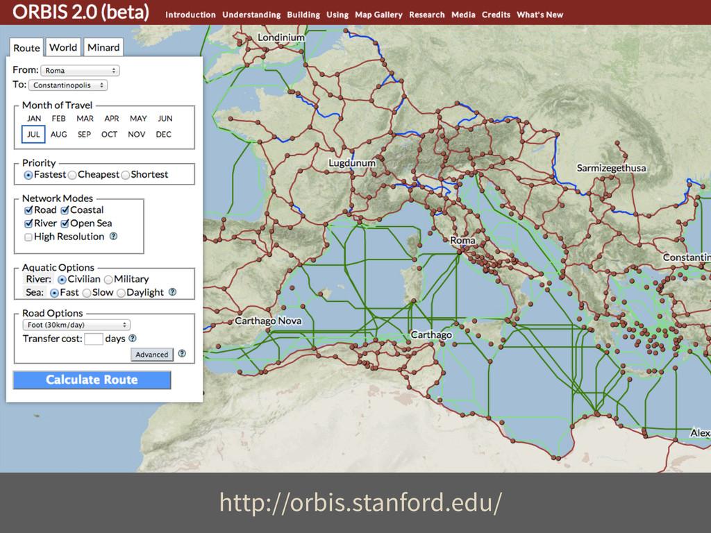 http://orbis.stanford.edu/