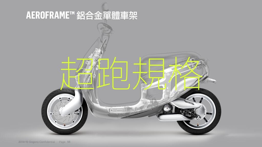 2014 15 Gogoro Con idential Page AEROFRAME™ 衶ݳᰂ...