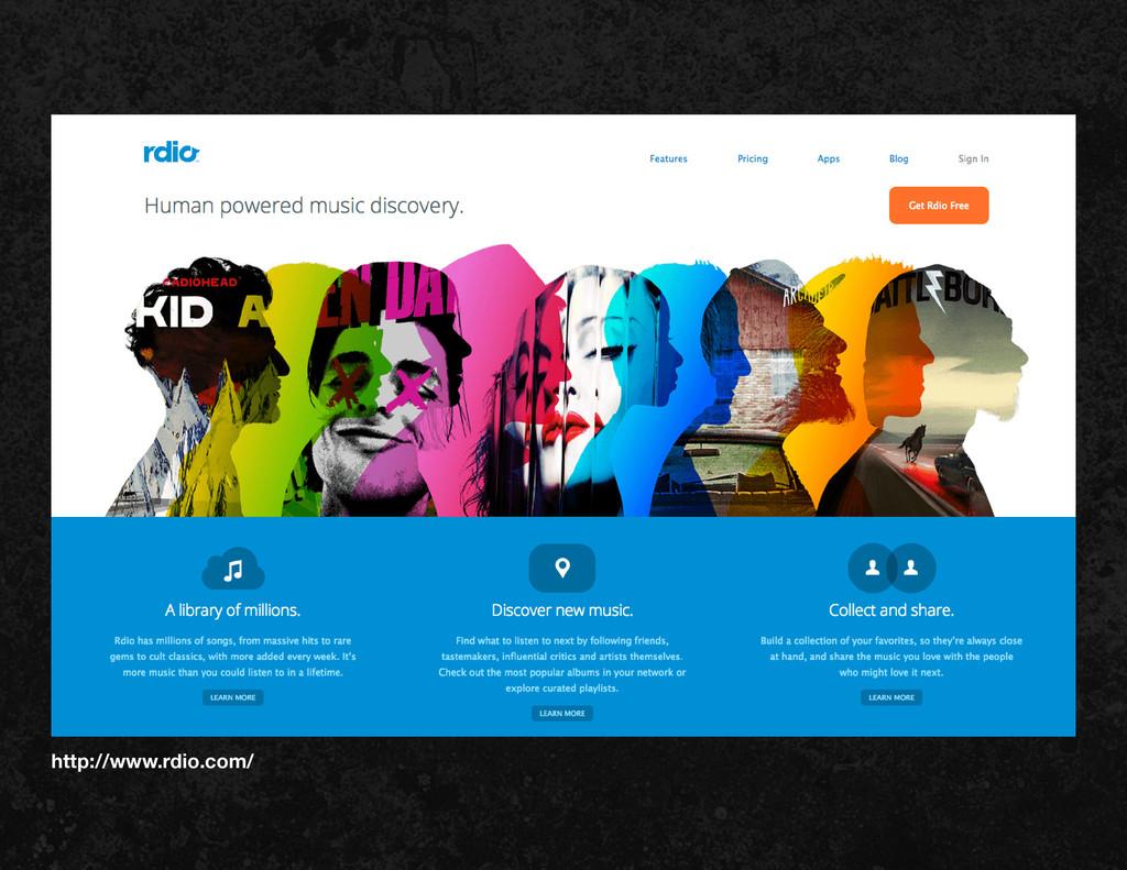 http://www.rdio.com/
