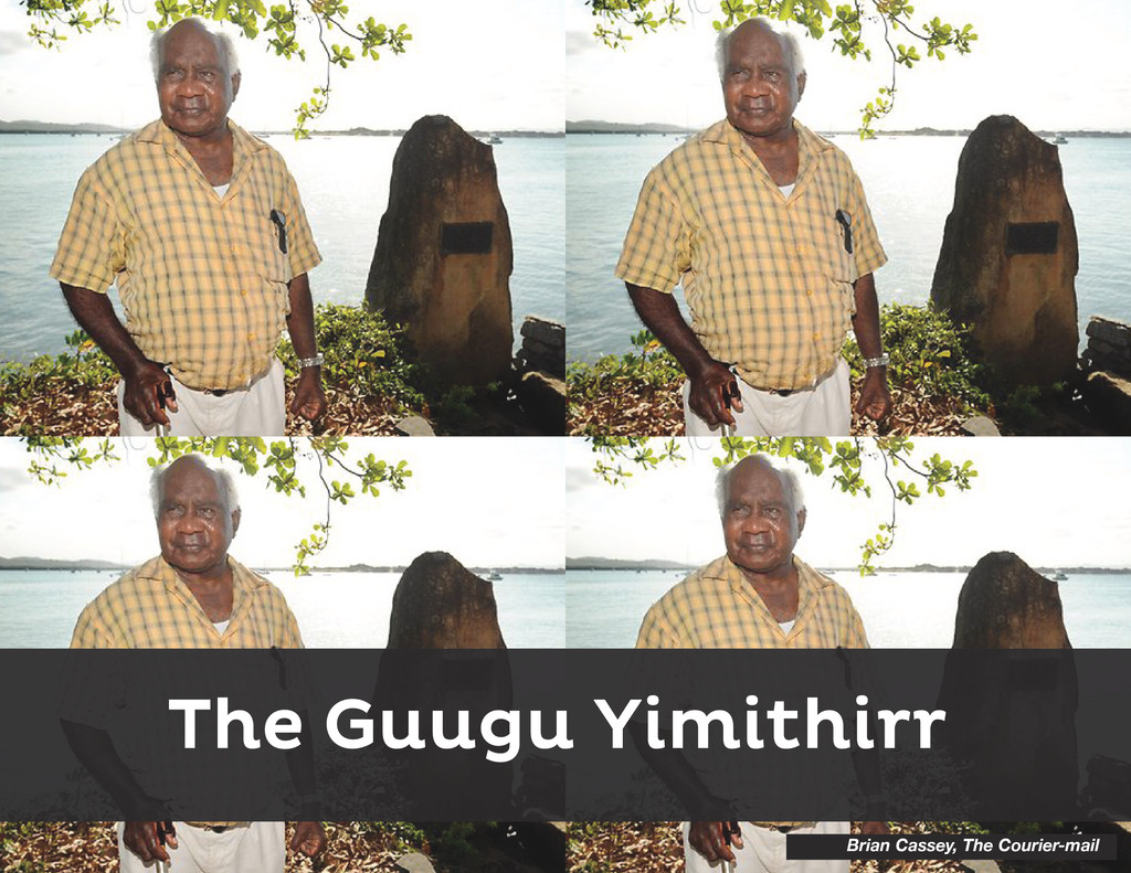 The Guugu Yimithirr Brian Cassey, The Courier-m...