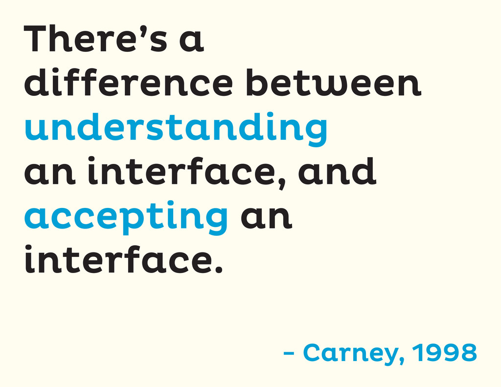 There's a difference between understanding an i...