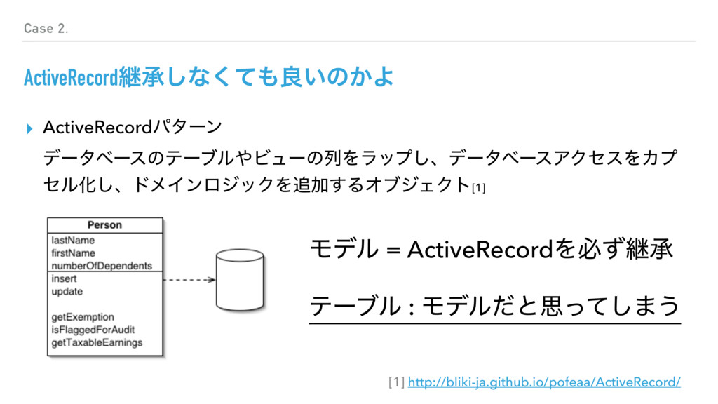 Case 2. ActiveRecordܧঝ͠ͳͯ͘΋ྑ͍ͷ͔Α ▸ ActiveRecord...