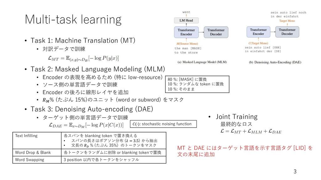 Multi-task learning • Task 1: Machine Translati...