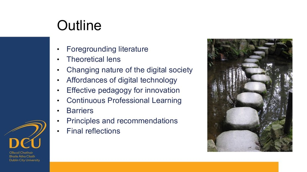 Outline • Foregrounding literature • Theoretica...