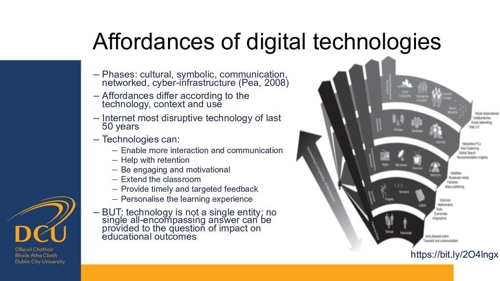 Affordances of digital technologies − Phases: c...
